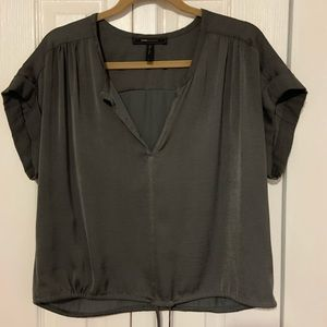 Silk Top with Drawstring